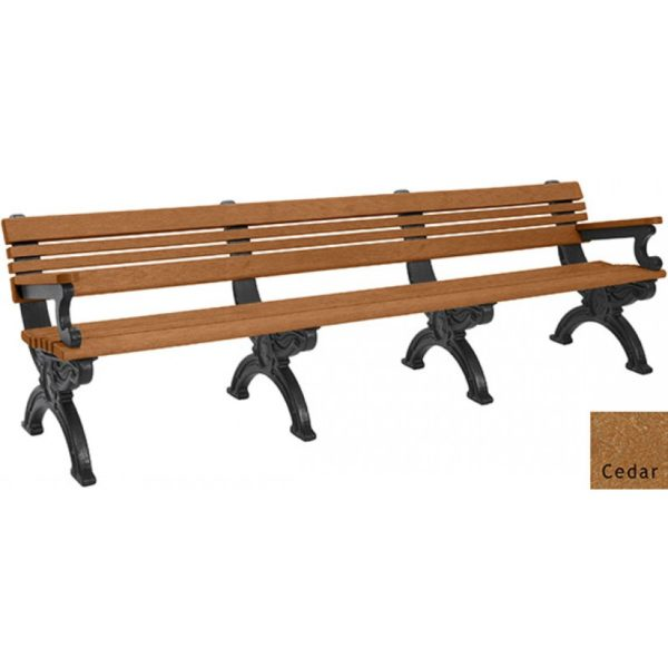 cambridge recycled bench with arms 5