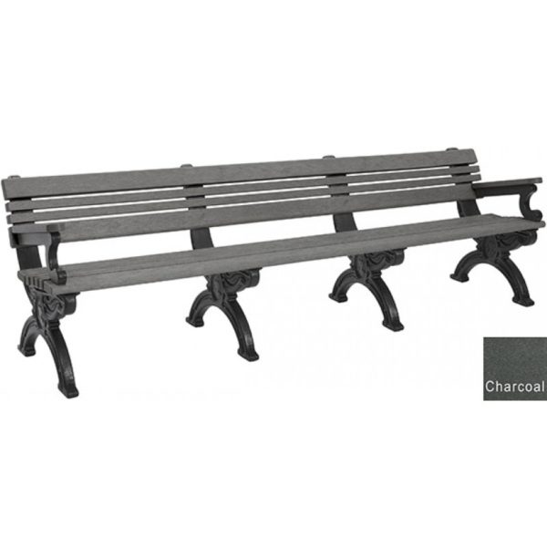 cambridge recycled bench with arms 7