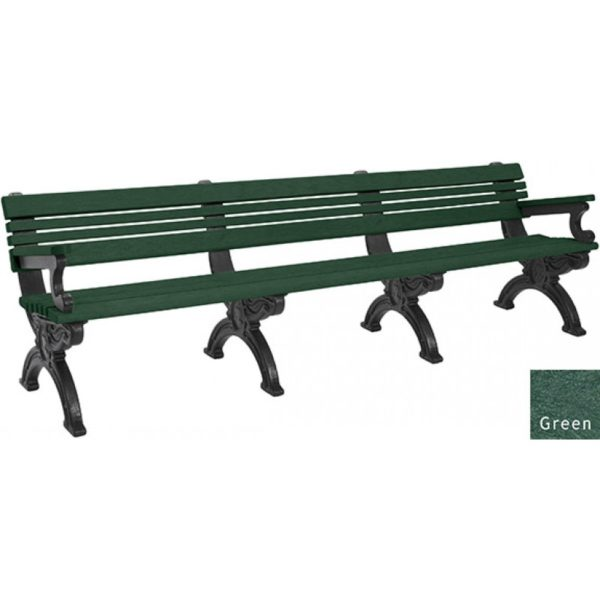 cambridge recycled bench with arms 8