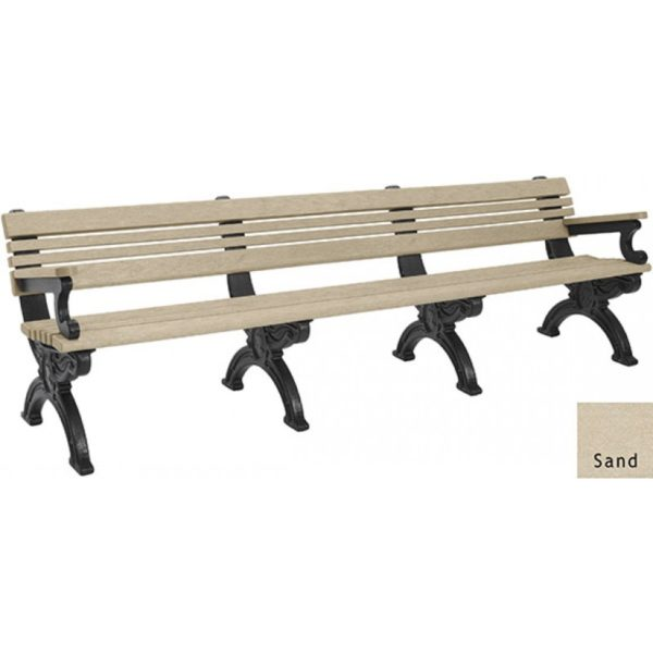 cambridge recycled bench with arms 9