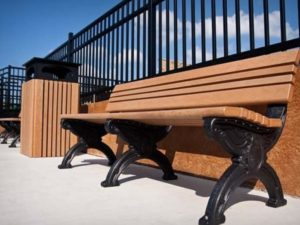 cambridge recycled bench without arms 25