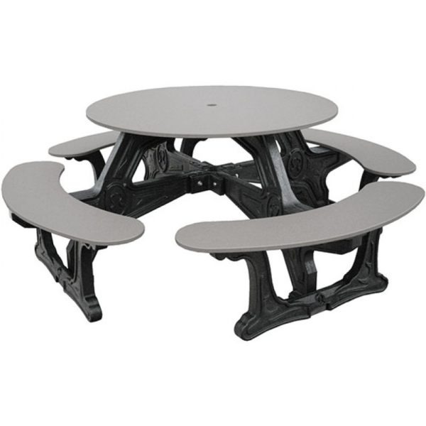 cantina round recycled plastic picnic table 1