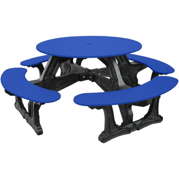 cantina round recycled plastic picnic table 10