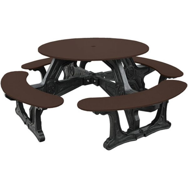 cantina round recycled plastic picnic table 11