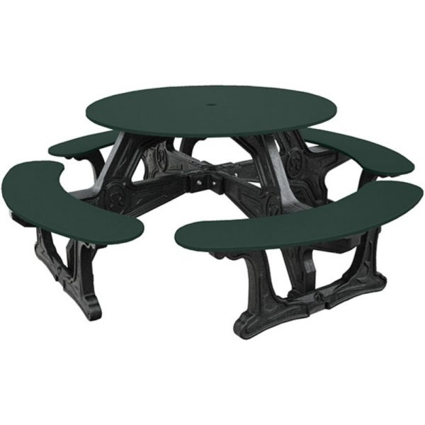 cantina round recycled plastic picnic table 12