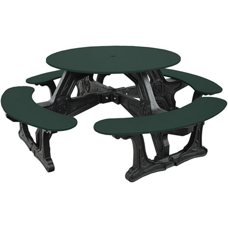 Cantinaroundrecycledplasticpicnictable Pro Playgrounds - Recycled plastic round picnic table