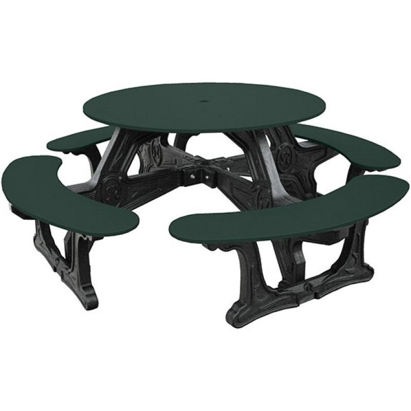 Cantinaroundrecycledplasticpicnictable Pro Playgrounds - Recycled plastic round picnic table