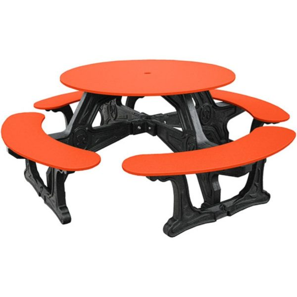 cantina round recycled plastic picnic table 2