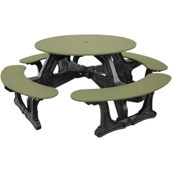 cantina round recycled plastic picnic table 4