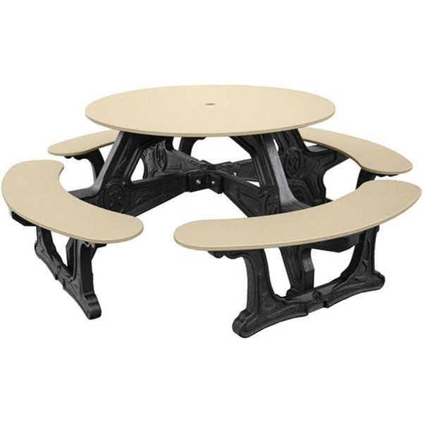 cantina round recycled plastic picnic table 5