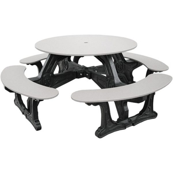 cantina round recycled plastic picnic table 7
