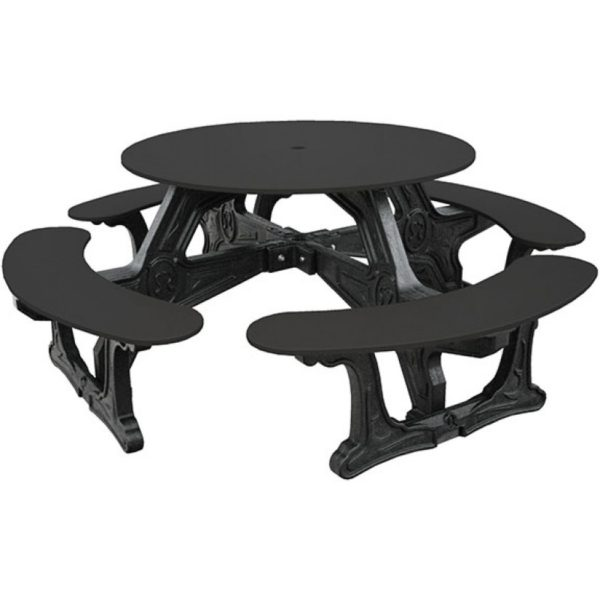 cantina round recycled plastic picnic table 9
