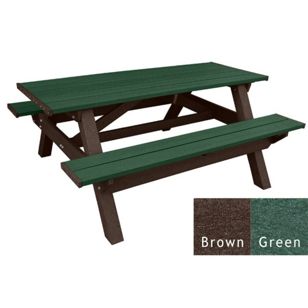 deluxe recycled plastic picnic table 12