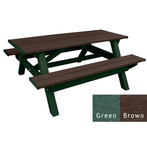 deluxe recycled plastic picnic table 16