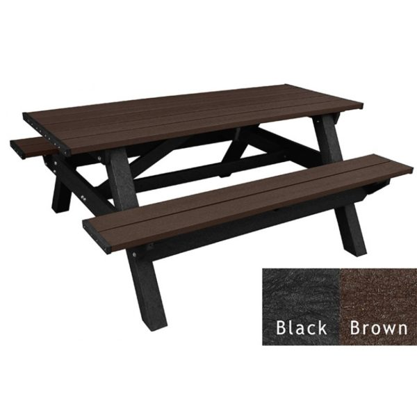 deluxe recycled plastic picnic table 2