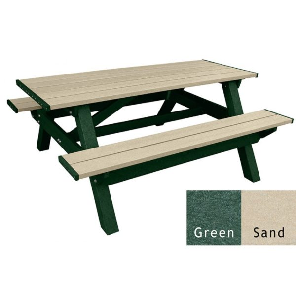 deluxe recycled plastic picnic table 20