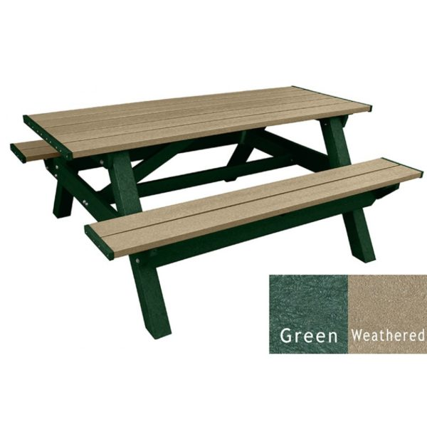 deluxe recycled plastic picnic table 21