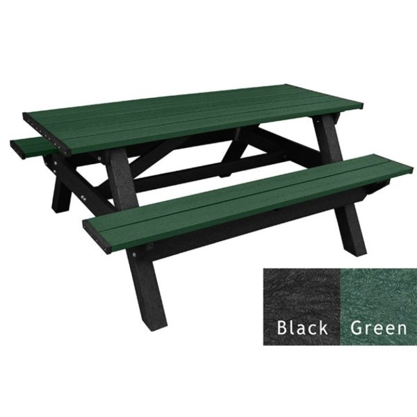 deluxe recycled plastic picnic table 5