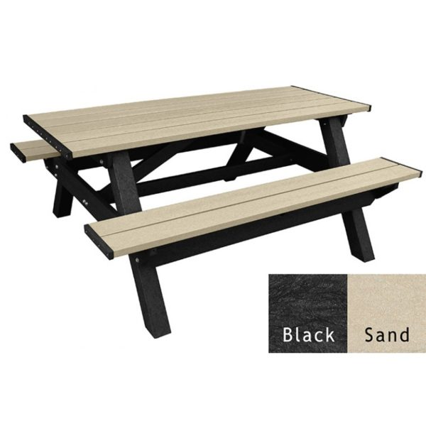deluxe recycled plastic picnic table 6