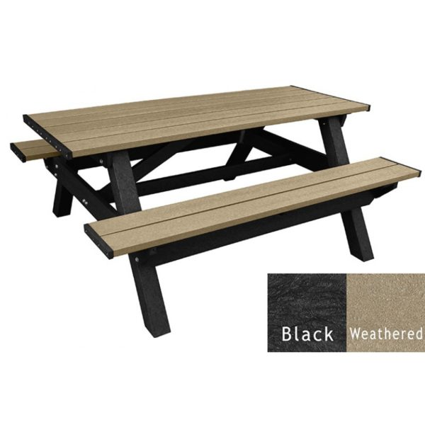 deluxe recycled plastic picnic table 7