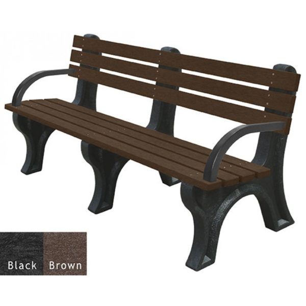 economizer recycled plastic bench with arms 1