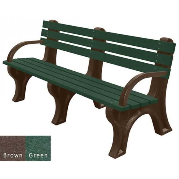 economizer recycled plastic bench with arms 12