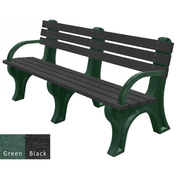 economizer recycled plastic bench with arms 15
