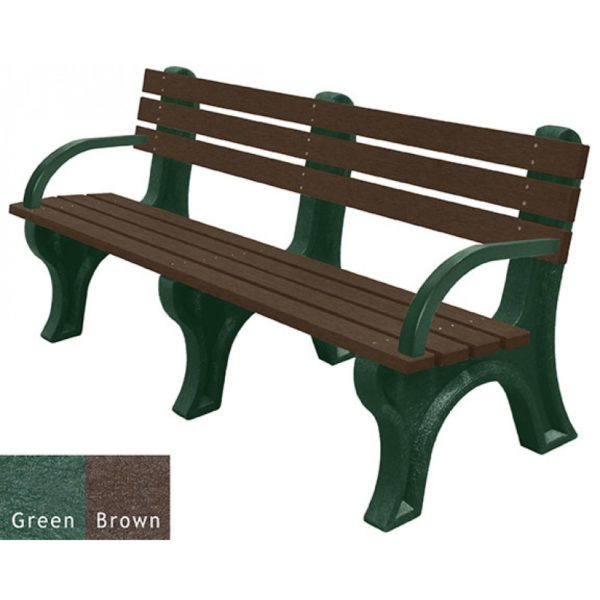 economizer recycled plastic bench with arms 16