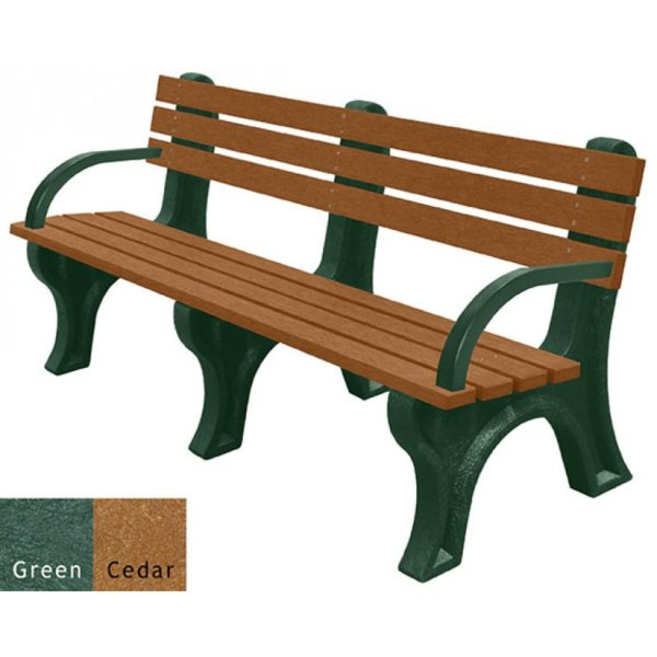 economizer recycled plastic bench with arms 17
