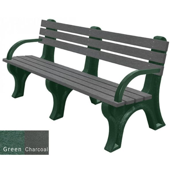 economizer recycled plastic bench with arms 18