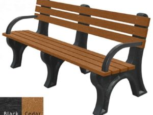 economizer recycled plastic bench with arms 2