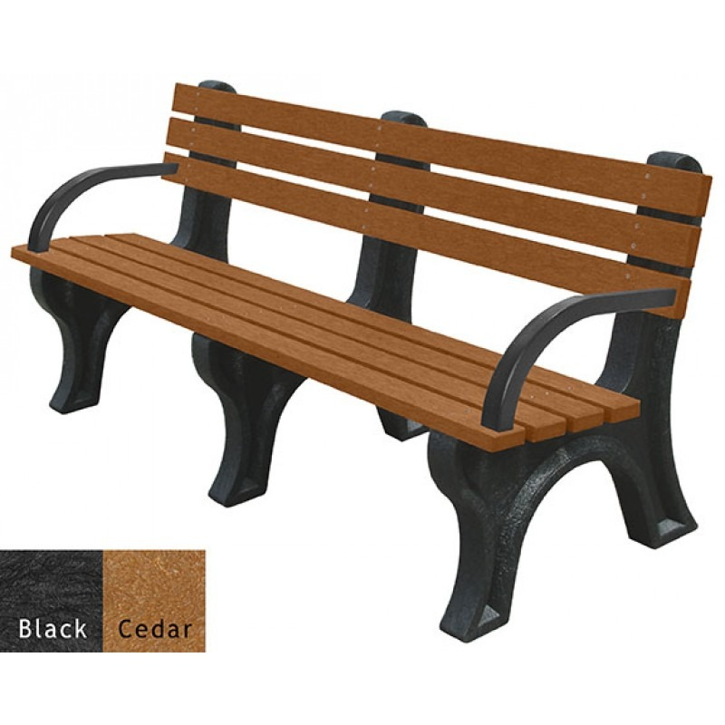 bench with arms. Economizer-recycled-plastic-bench-with-arms Bench With Arms