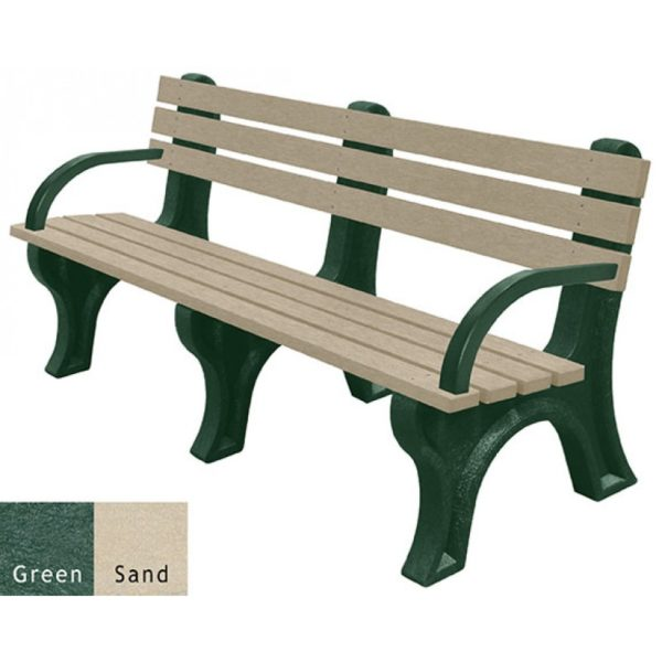 economizer recycled plastic bench with arms 20