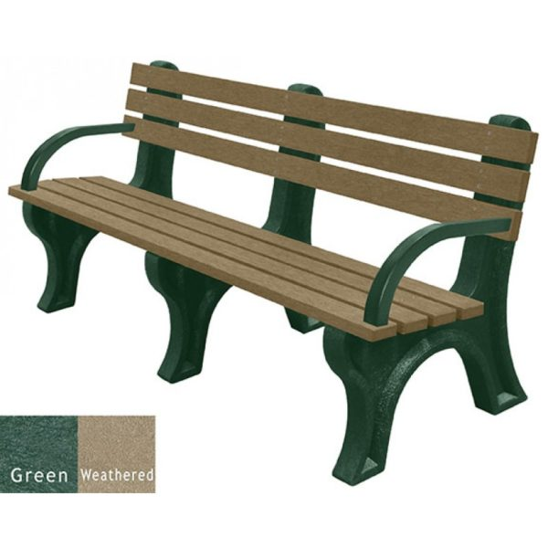 economizer recycled plastic bench with arms 21