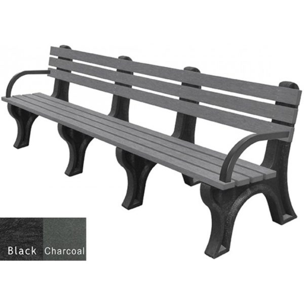 economizer recycled plastic bench with arms 24