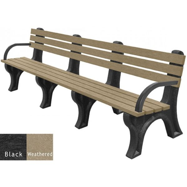 economizer recycled plastic bench with arms 27