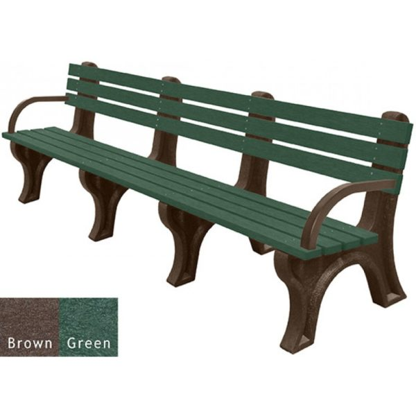 economizer recycled plastic bench with arms 32