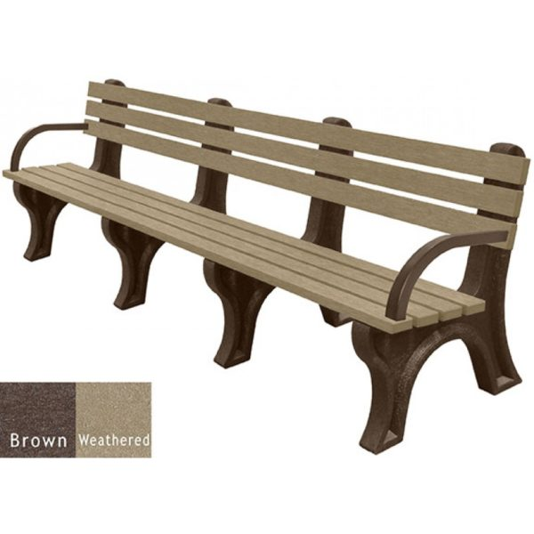 economizer recycled plastic bench with arms 34