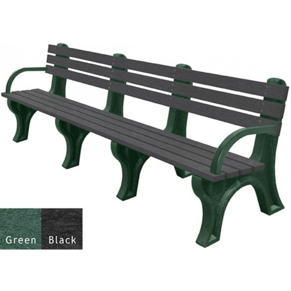 economizer recycled plastic bench with arms 35