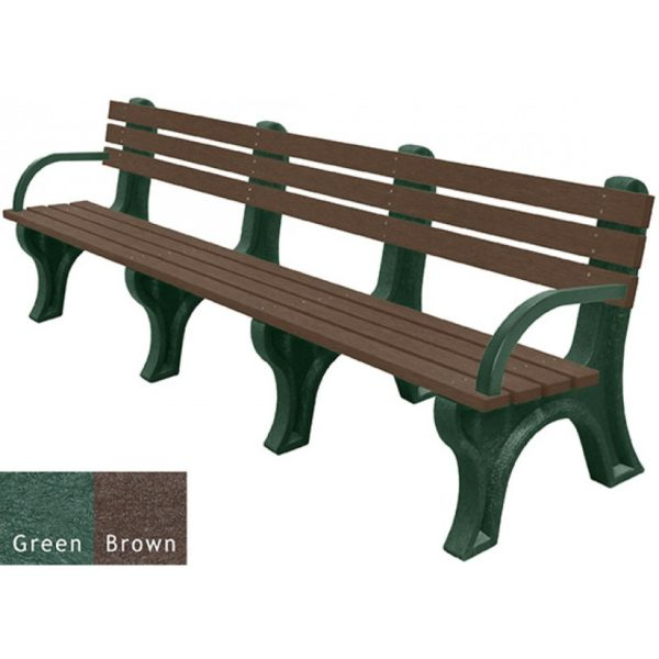 economizer recycled plastic bench with arms 36