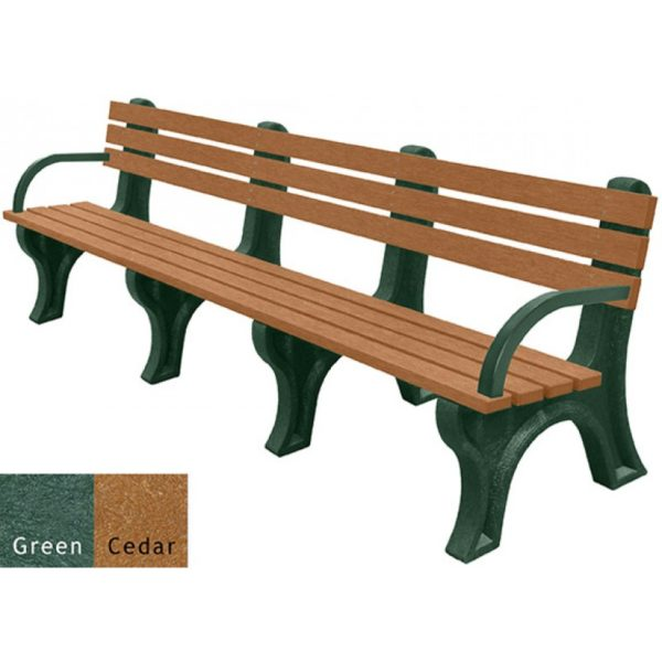 economizer recycled plastic bench with arms 37