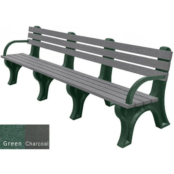economizer recycled plastic bench with arms 38