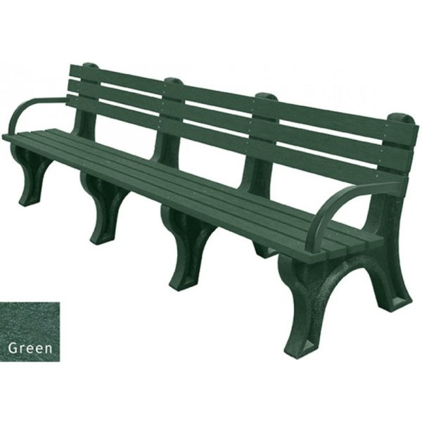 economizer recycled plastic bench with arms 39