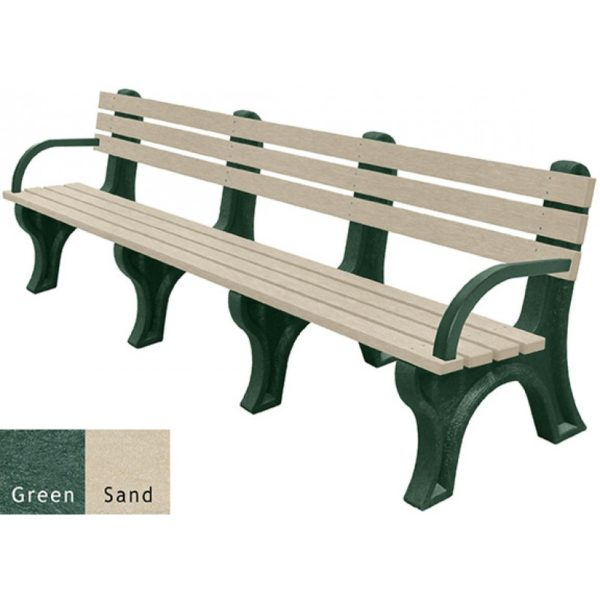 economizer recycled plastic bench with arms 40