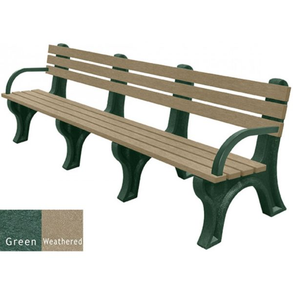 economizer recycled plastic bench with arms 41