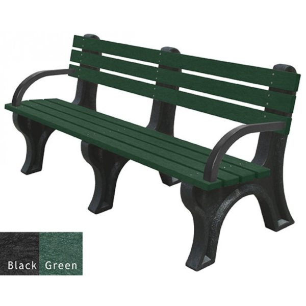 economizer recycled plastic bench with arms 5
