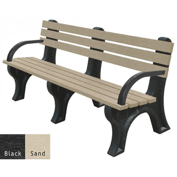 economizer recycled plastic bench with arms 6