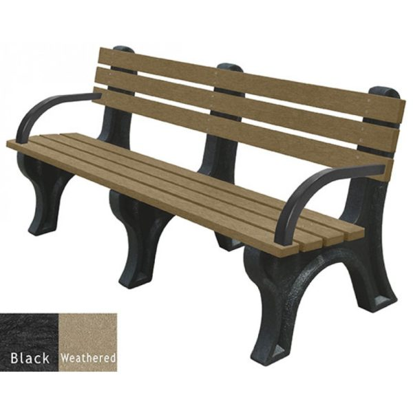 economizer recycled plastic bench with arms 7