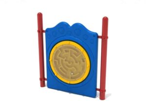 freestanding ball maze commercial panel with posts 1