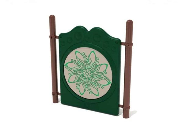 freestanding finger maze commercial panel with posts 1